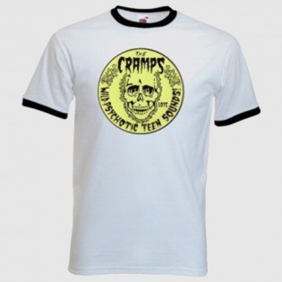 CAMISETA THE CRAMPS RINGER N/B